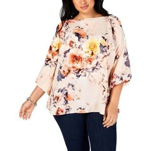 Charter Club Textured Floral Top